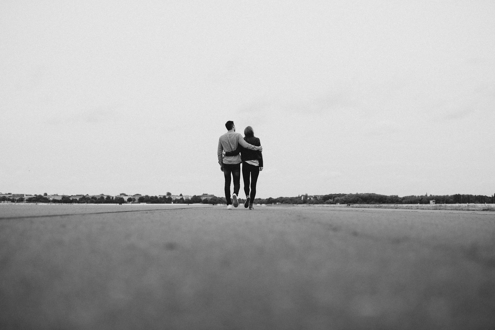 Ligação espiritual entre duas pessoas que se amam