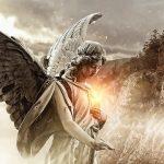 Acender vela para anjo da guarda com copo de água